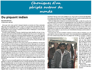 Le Relfet article on India
